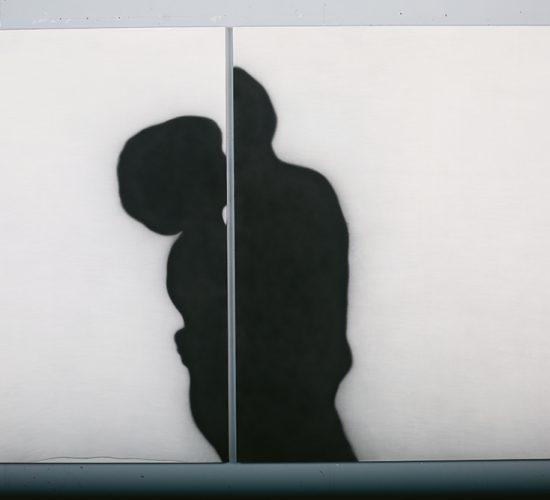 <b>Kiss 입맞춤</b> 162x232cm, Spray on span, 2004