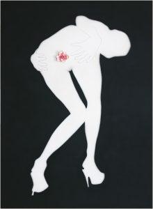 Sexy Girl 섹시걸 240x173cm, Spray on canvas, Artificial flower, 2007